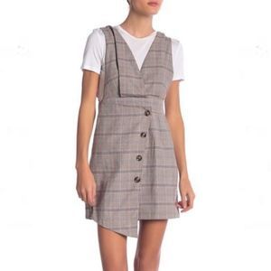 Favlux Sleeveless Plaid Mini Wrap Dress S